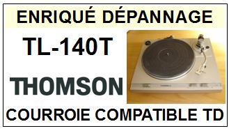 thomson tl140t courroie flat belt pour tourne disques 2015 09 16 euros. Black Bedroom Furniture Sets. Home Design Ideas