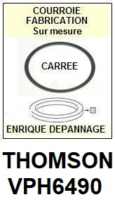 THOMSON VPH6490  <br>Courroie pour Magnétoscope (square belt)<small> 2018  AVRIL</small>
