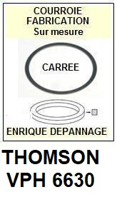 THOMSON VPH6630  <br>Courroie pour Magnétoscope (square belt)<small> 2018  MARS</small>