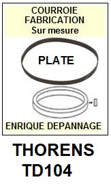 THORENS-TD104-COURROIES-ET-KITS-COURROIES-COMPATIBLES