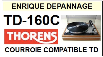 THORENS TD160C TD-160C <br>Courroie plate d'entrainement tourne-disques (<b>flat belt</b>)<small> 2018 AVRIL</small>