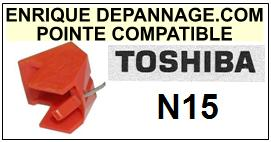 TOSHIBA<br> N15 Pointe (stylus) Diamant sphérique <BR><small>a 2015-08</small>