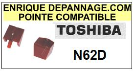 TOSHIBA<br> N62D N-62D Pointe (stylus) Diamant sphérique <BR><small>a 2015-08</small>