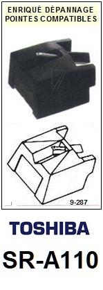 TOSHIBA SRA110 SR-A110 <br>Pointe diamant sphérique pour tourne-disques (stylus)<SMALL> 2015-11</SMALL>