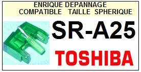 TOSHIBA<br> SRA25 SR-A25 Pointe (stylus) sphérique pour tourne-disques <BR><small>sc 2015-07</small>