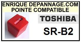 TOSHIBA<br> SRB2 SR-B2 Pointe (stylus) sphérique pour tourne-disques<SMALL> 2015-09</SMALL>