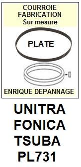 UNITRA FONICA-TSUBA PL731-COURROIES-ET-KITS-COURROIES-COMPATIBLES