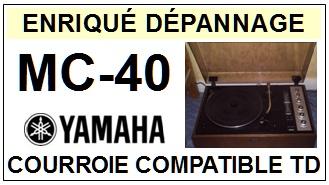 YAMAHA-MC40 MC-40-COURROIES-ET-KITS-COURROIES-COMPATIBLES