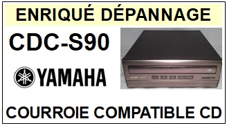 <strong>YAMAHA CDCS90 CDC-S90</strong> <br>Courroie pour lecteur CD (<b>Cd player square belt</b>)<small> 2018 MAI</small>