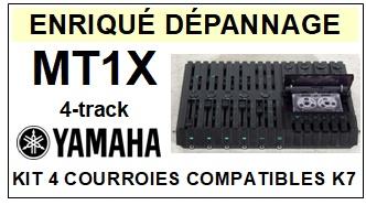 YAMAHA MT1X  4-track <BR>kit 4 courroies pour platine k7 (<b>set belts</b>)<small> 2017 NOVEMBRE</small>