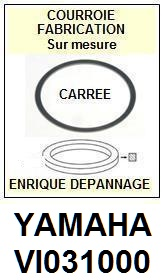 YAMAHA<br> VI031000   courroie (square belt) référence yamaha <br><small> 2015-08</small>
