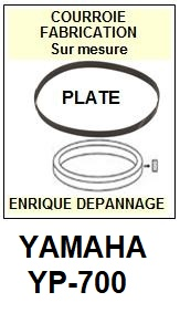 YAMAHA YP700 YP-700 <br>Courroie plate d'entrainement tourne-disques (<b>flat belt</b>)<small> 2017 DECEMBRE</small>