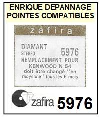 ZAFIRA-5976 (KENWOOD N54)-POINTES-DE-LECTURE-DIAMANTS-SAPHIRS-COMPATIBLES