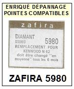 ZAFIRA-5980 (KENWOOD N62C)-POINTES-DE-LECTURE-DIAMANTS-SAPHIRS-COMPATIBLES
