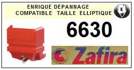 ZAFIRA<br> 6630 (shure n92e) Pointe (stylus) Diamant Elliptique<small> 2015-09</small>