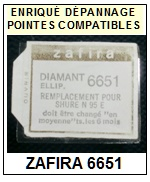 ZAFIRA 6651 (shure n95e n90e) <br>Pointe Diamant <b>Elliptique</b> (stylus)<small> 2016-10</small>