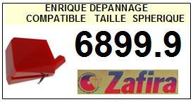ZAFIRA<br> 6899.9 (toshiba n62) Pointe (stylus) Diamant sphérique <small>2015-09</small>